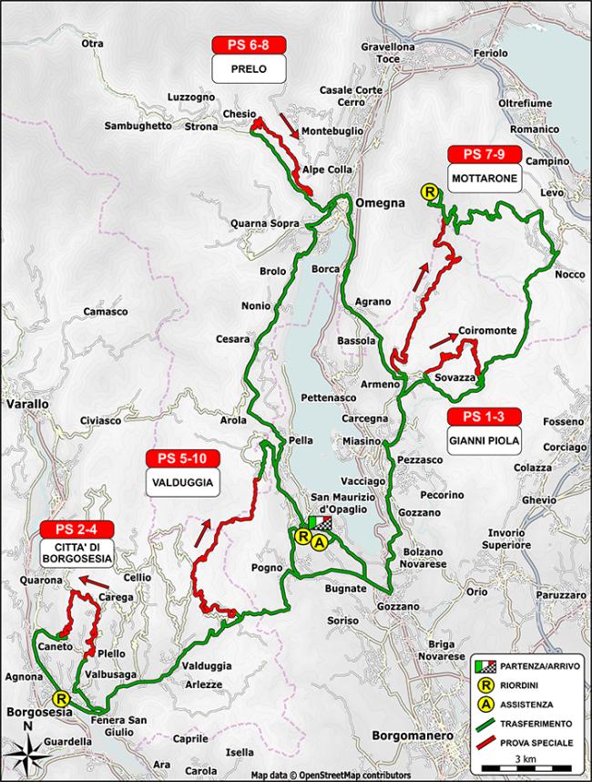 mappa rally rubinetto 2018
